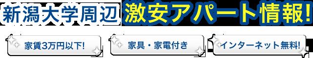 家具家電付きでインターネットが使い放題!家賃3万円以内のアパート情報!